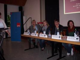Das Podium der Diskussion mit Florian Ritter MdL