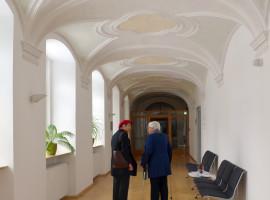 Gedankenaustausch Herta Däubler-Gmelin und Renate Dodell, Vorsitzende des Hospizvereins