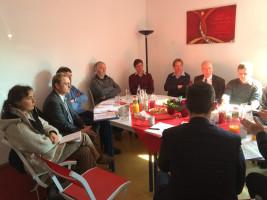 Diskussionsrunde mit Vertretern von Pro Bahn