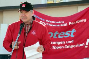 Unterstützer der IG Metall (Foto: Erich Guttenberger)