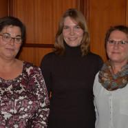 Referentin Mandy Nitschke mit AsF-Vorsitzender Jutta Geldsetzer