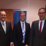 Markus Rinderspacher, Dominik Hey und Andreas Lotte, die Redner der Festveranstaltung